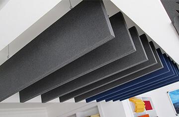 akustik baffle ses yalıtım izolasyon paneli